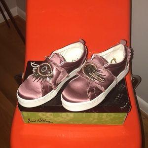 Sam Edelman Pink Satin Beaded Sneaker 8